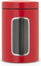 Brabantia Window Canister, 1.4 L - Passion Red