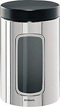 Brabantia Window Canister, Black Lid, 1.4 L -