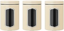 Brabantia Window Canister Set, 1.4 L - Almond, 3