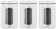 Brabantia Window Canister, White, 1.4L