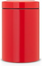 Brabantia Window Lid Canister, 1.4 L - Passion Red