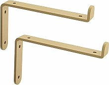 brackets 2pcs Gold Metal Shelf, L Shape Right