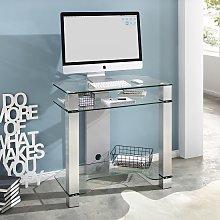 Bradmoor Glass Computer Desk With Brushed Metal