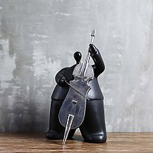 Bradoner Black Music Puppet Resin Home Decor