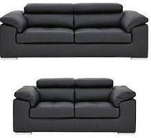 Brady 100% Premium Leather 3 Seater + 2 Seater