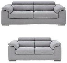 Brady 3 Seater + 2 Seater Fabric Sofa Set (Buy And