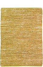 Braided Rug, 120 cm x 170 cm, Yellow
