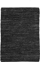 Braided Rug, 160 cm x 230 cm, Black