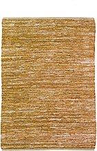 Braided Rug, 160 cm x 230 cm, Yellow
