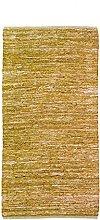 Braided Rug, 60 cm x 120 cm, Yellow