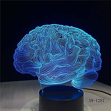 Brain Shape 3D Illusion Night Light 7 Color Change