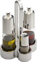 Braisogona Bella Oil and Vinegar Set, Silver, 30 x