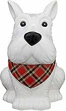 Brand New Animal Design Scotty Dog Cookie Jar &