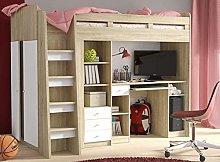 Brand New Kids Children Bedroom Bunk Bed UNIT with