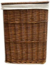 Brand New Rectangular Brown Wicker Linen Laundry