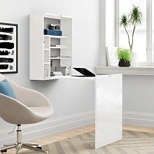 Brandi Floating Desk Zipcode Design Colour: White