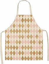 Brandless Apron 1Pcs Simple Pink Gold Series