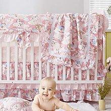 Brandream Baby Girl Crib Bedding Set Pink Unicorn