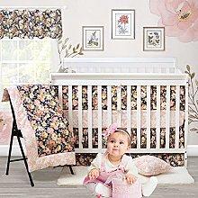 Brandream Floral Crib Bedding Set, Baby Girl