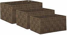 Brandsseller - Woven Strap Storage Basket Bathroom