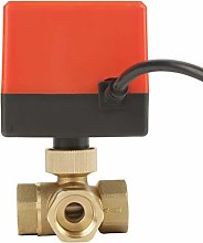 Brass Ball, Durable Motorized Ball Valve, Plumbing