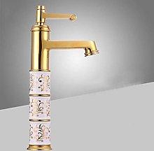 Brass Basin Faucets Bathroom Faucet Gold Mixer Tap