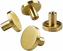 Brass Brushed Round Knobs Cabinet Door Handles