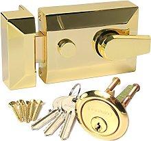 Brass Double Locking 60mm Nightlatch