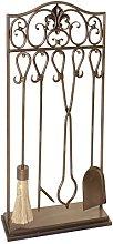 Brass Fire Tool Set Companion - Shovel Stoker