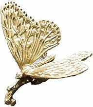 Brass Flower Shape Dresser Cabinet Pull Drawer
