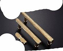 Brass Furniture Handles Knurling Gold Black Modern