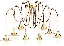 Brass Pendant Lights, Height Adjustable Hanging