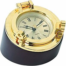 Brass Porthole Desk Clock