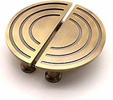 Brass Pull Wardrobe Door Furniture Spiral Half