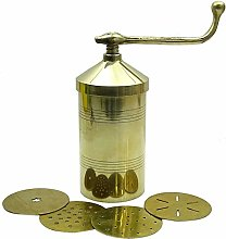 Brass Sev Sancha Indian Snack Maker Manual Pasta