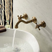 Brass Split Double The Basin Taps Into The Wall