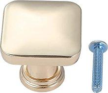 Brass Square Knob Single Hole Handle Vintage Pull