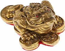Brass Toad Home Offie Feng Shui Decoration