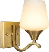 Brass Wall Lamps, Modern Warm Glass Shade Wall
