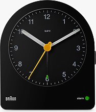 Braun Analogue Alarm Clock, Black