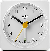 Braun Classic Travel Analogue Alarm Clock, Compact