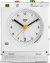 Braun Classic Travel Analogue Alarm Clock with