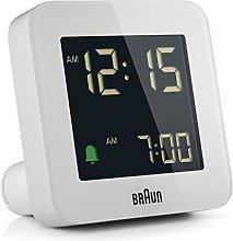 Braun digital alarm clock with snooze, negative