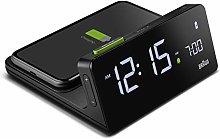 Braun Digital Alarm Clock with VA LCD Display, 10W