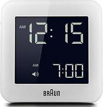 Braun Digital Clock with Snooze, Negative LCD