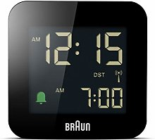 Braun digital radio controlled travel alarm clock