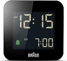 Braun Digital Travel Alarm Clock with Snooze,