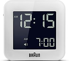 Braun Digital Travel Clock with Snooze, Compact
