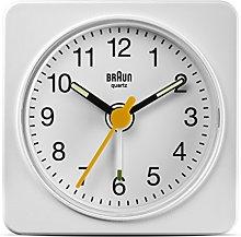 Braun Travel Alarm Clock BNC019WH,White