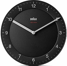 Braun Wall Clock, Black, Normal